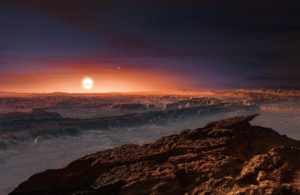 artist rendering of planet Proxima b